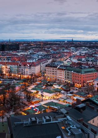 Munich Viktualienmarkt from above