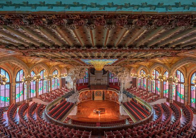 Konzerthalle des Palau de la Musica Catalana in Barcelona