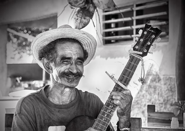 Cuban guitar player