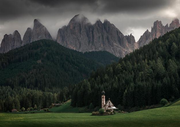 Bergkapelle in den Dolomiten