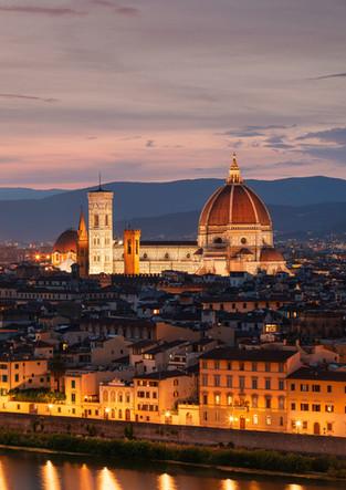 Florence skyline at sunset