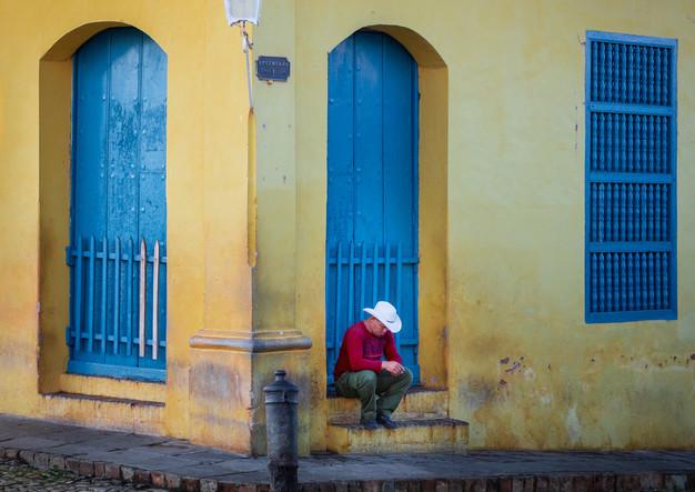 Cubans take siesta in Trinidad
