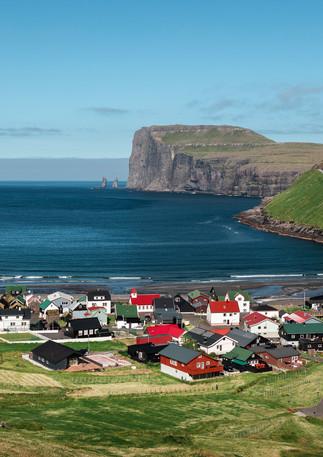 Dorf Tjørnuvík auf Streymoy, Färöer Inseln