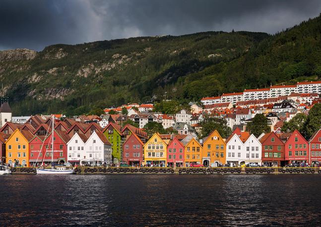 Bunte Kaufmannshäuser von Bryggen, Bergen