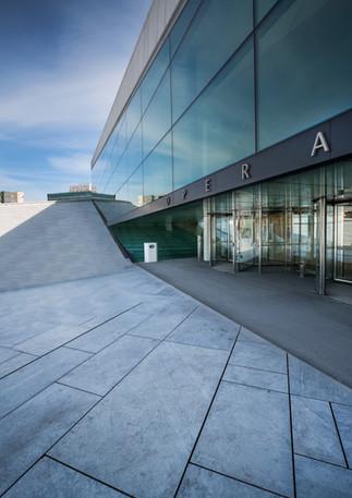 Eingang Opernhaus in Oslo