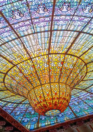 Mosaiksonne im Palau de la Musica Catalana in Barcelona