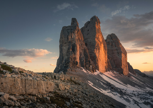 Drei Zinnen Alpenglühen, Dolomiten