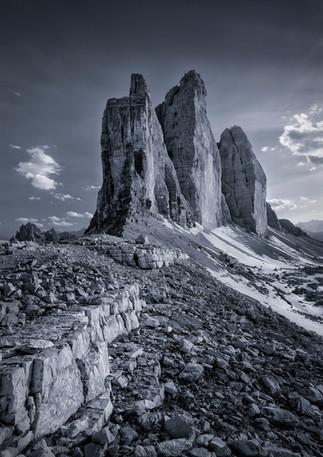 Felsen der Drei Zinnen, Dolomiten