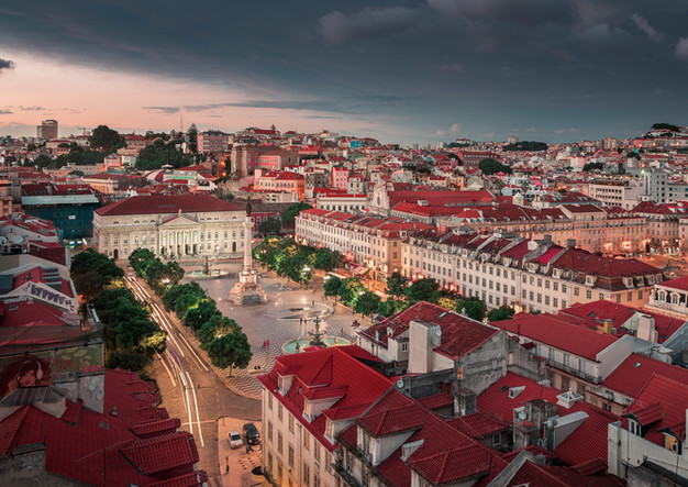 Lisbon city at sunset