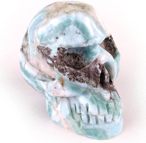 Larimar Skull