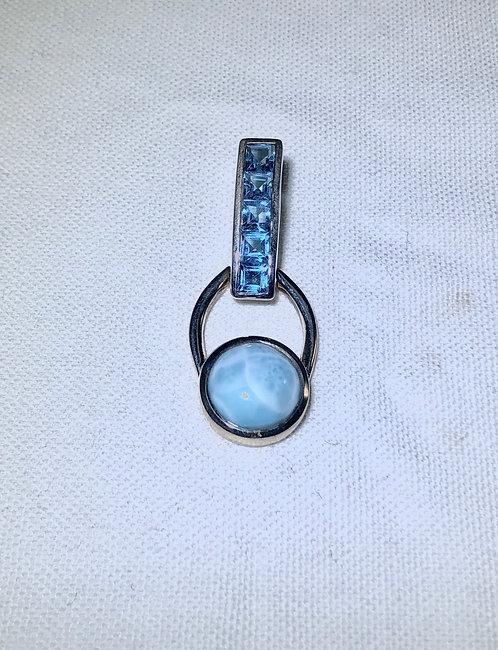 Larimar x Blue Topaz Pendant