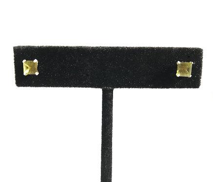 Moldavite Faceted Stud Earrings