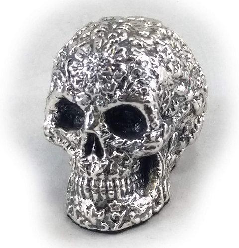"""Silver """"Dia de los Muertos"""" Skull"""