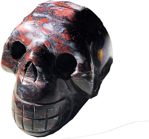Breccia Jasper Skull (Brecciated Jasper)