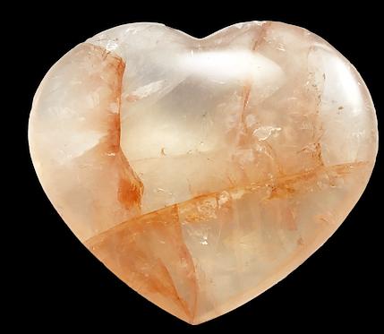 Hematoid Quartz Heart (Unheated)