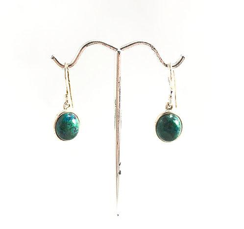 Chrysocolla Oval Earrings