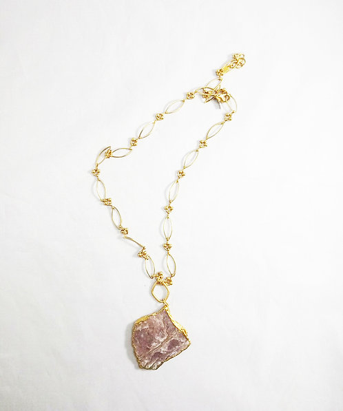Lepidolite Necklace by Eileen Quezada