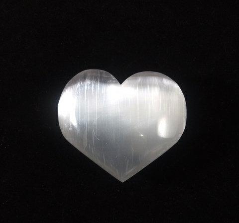 Selenite Polished Hearts (2)