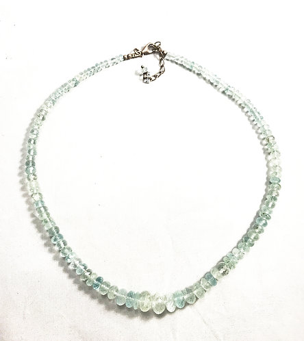 Aquamarine Faceted Bead Necklace