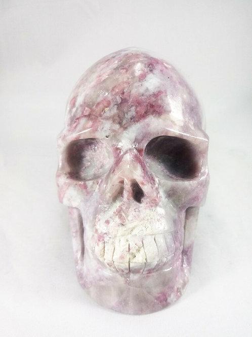 Lepidolite x Rubellite Skull