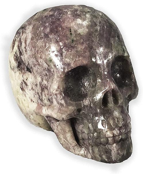 Lepidolite Crystal Skull