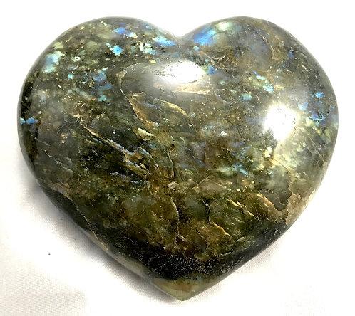 Labradorite Polished Heart