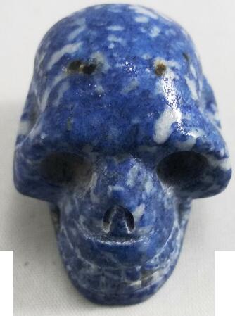 Denim Lapis Lazuli Skull