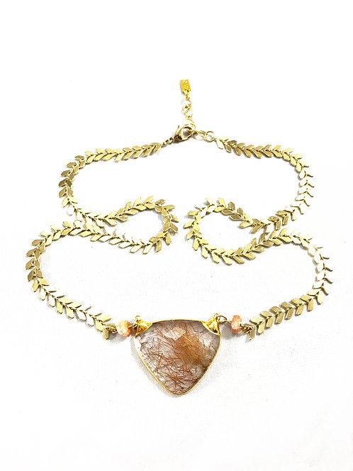 Rutilated Quartz Necklace by Eileen Quezada