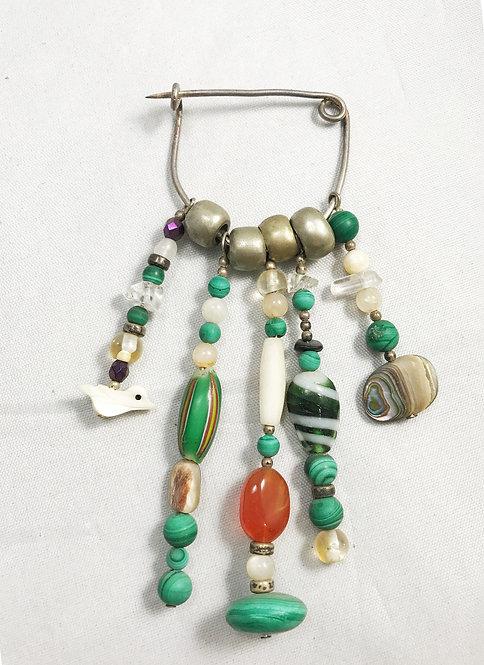 Malachite Treasure Pin