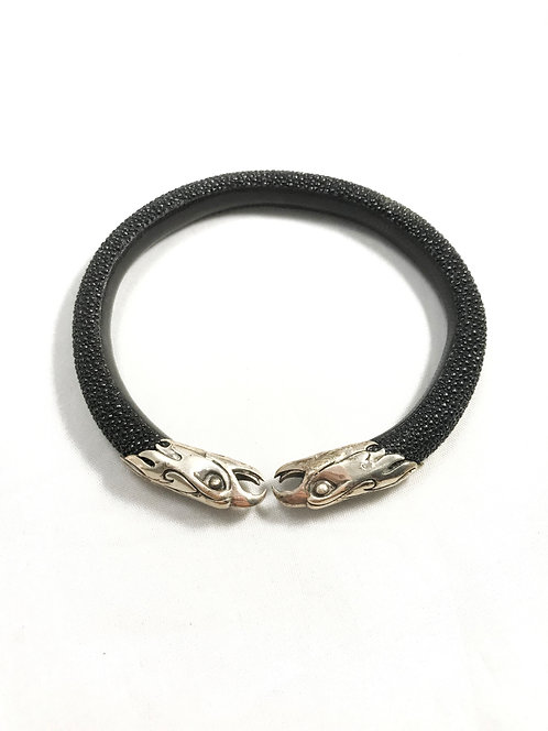 Leather Eagle Cuff by Mercurious