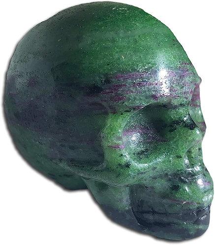 Ruby Zoisite Skull