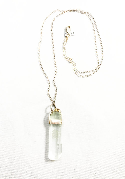 Aquamarine Wrapped Sterling Silver Pendant
