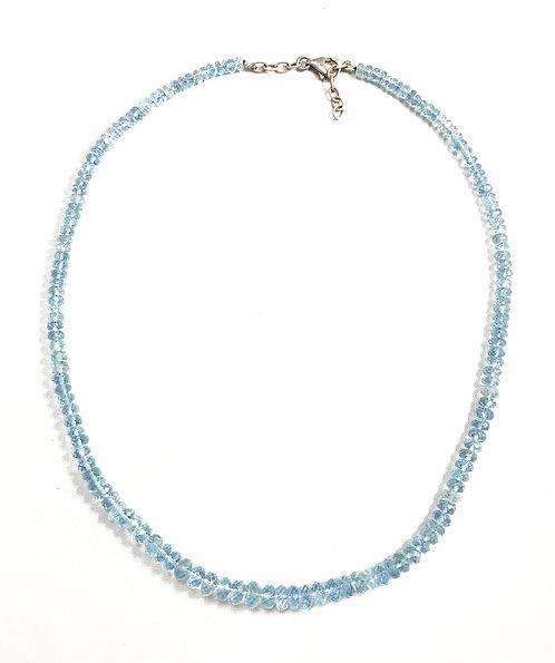 Aquamarine Faceted Necklace