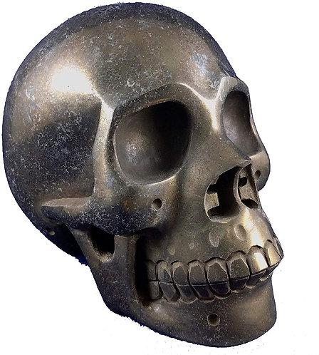 Chalcopyrite Carved Skull