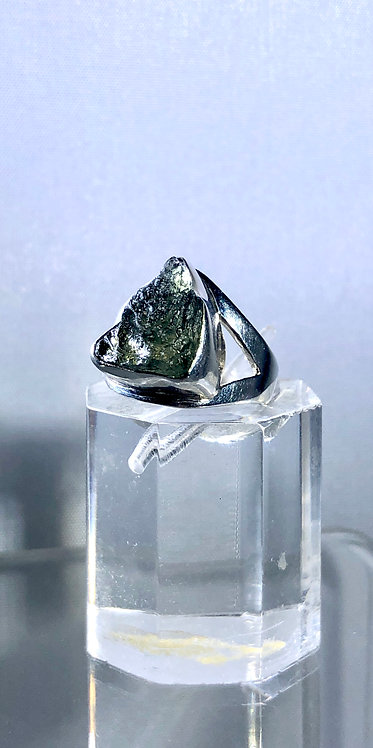 Natural Moldavite Ring