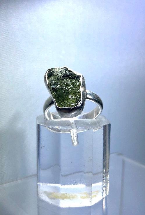 Natural Moldavite Ring