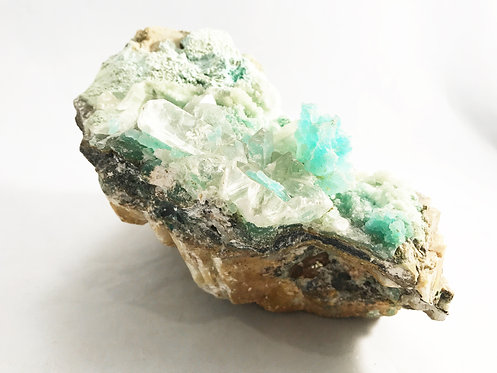 Chrysocolla Specimen with Selenite Crystals