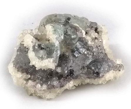 Fluorite x Dogtooth Calcite x Chalcopyrite Specimen