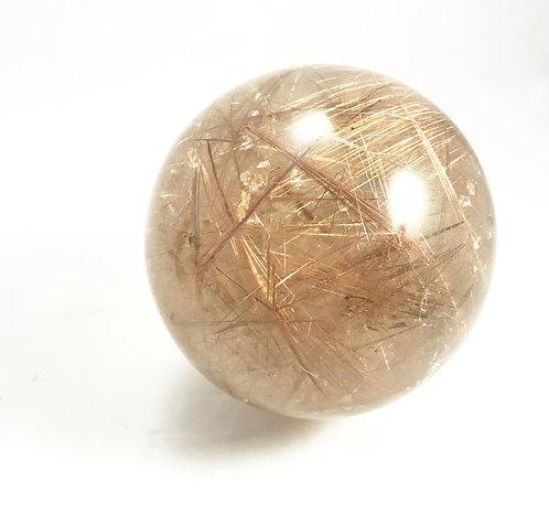 Rutilated Smokey Quartz Sphere