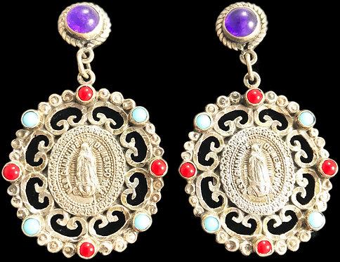 Vintage N.S.D Guadalupe de MX Earrings