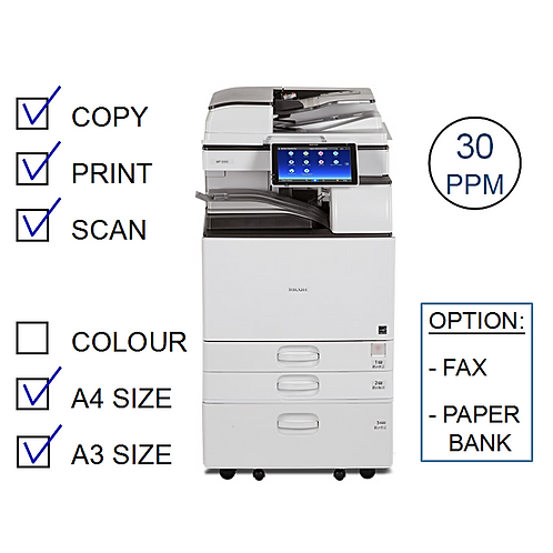 Ricoh MP 3055SP B&W Laser MFP (HP/L)