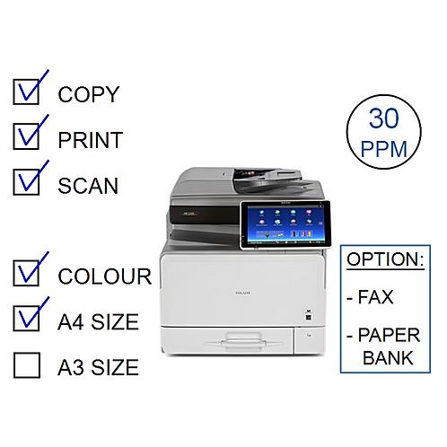 Ricoh MP C307SP Colour Laser MFP (HP/L)