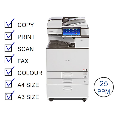 Ricoh MP C2504exSP Colour Laser MFP (HP/L)
