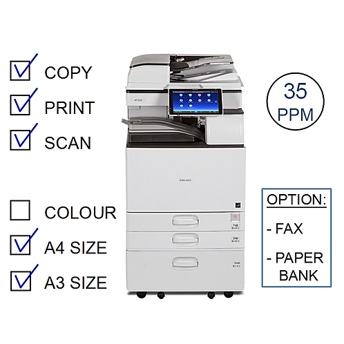 Ricoh MP 3555SP B&W Laser MFP (HP/L)