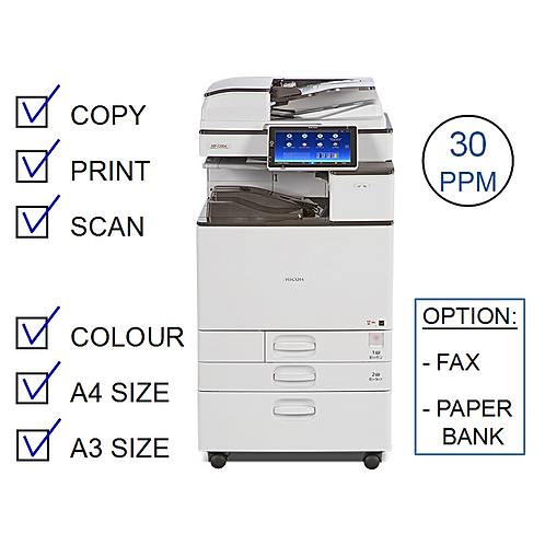 Ricoh MP C3004exSP Colour Laser MFP (HP/L)