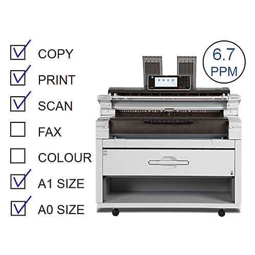 MP W6700SP B&W Laser Wide Format (HP/L)
