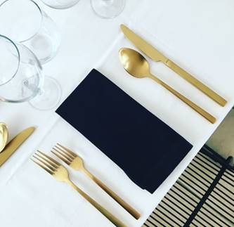 Gold Cutlery setting