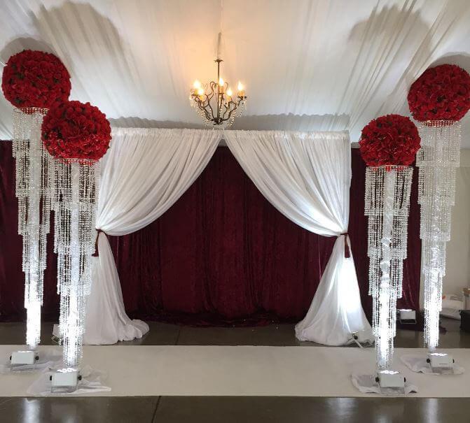 The Party Concierge, engagement photo-op, velvet drape