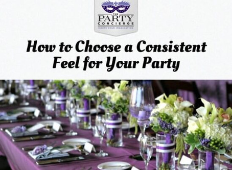 Deciding the Details: How to Choose a Consistent Feel for Your Party