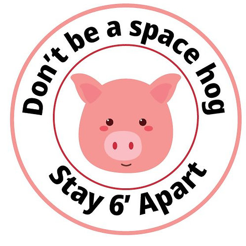 Social Distance Floor Sticker-Don't Be A Space Hog